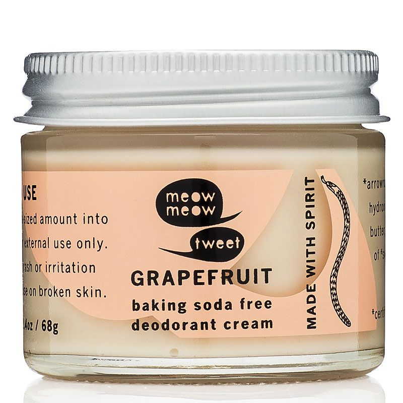 Meow Meow Tweet Baking Soda Free Deodorant (Grapefruit, 2.4 oz)
