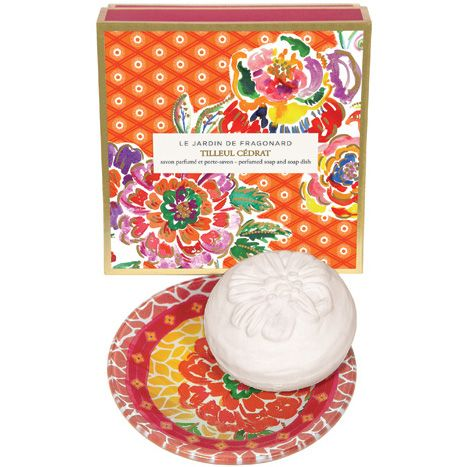 Fragonard Parfumeur Tilleul Cedrat Dish & Perfumed Soap (150 g) with box
