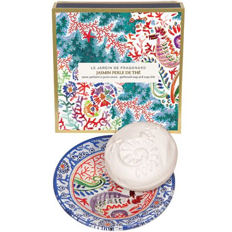 Fragonard Parfumeur Jasmin Perle de The Dish & Perfumed Soap (150 g) with box