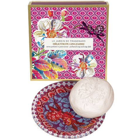 Héliotrope Gingembre Dish & Perfumed Soap with box