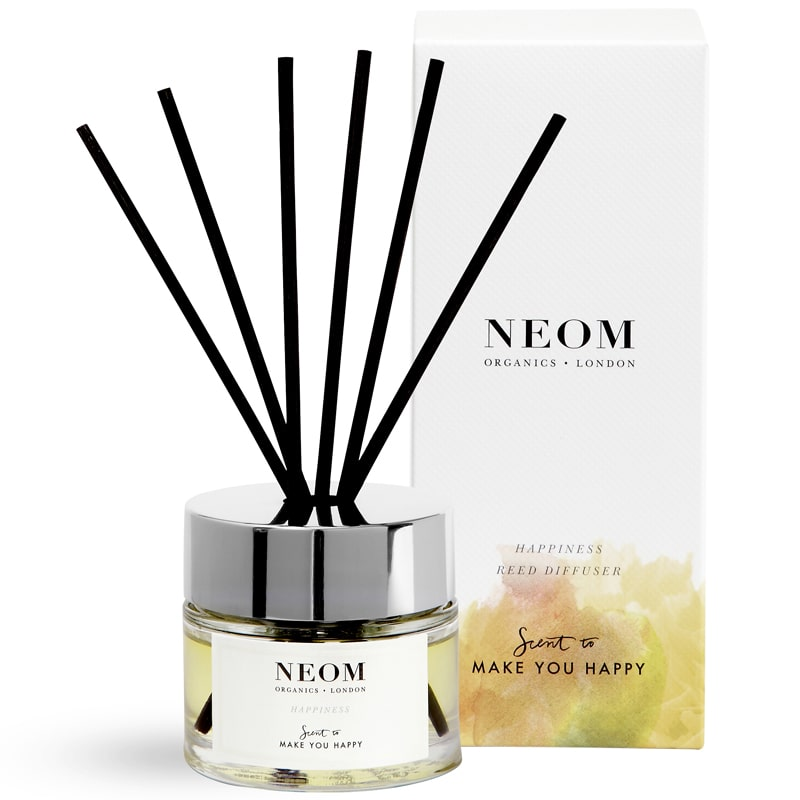 NEOM Organics Reed Diffuser - Happiness (3.38 oz) with box