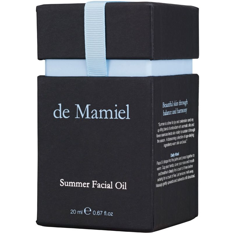 de Mamiel Summer Facial Oil box