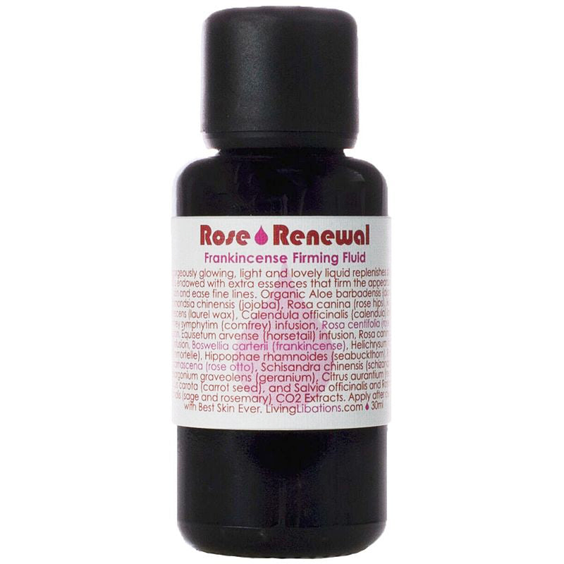 Living Libations Rose Renewal + Frankincense Firming Fluid (30 ml)