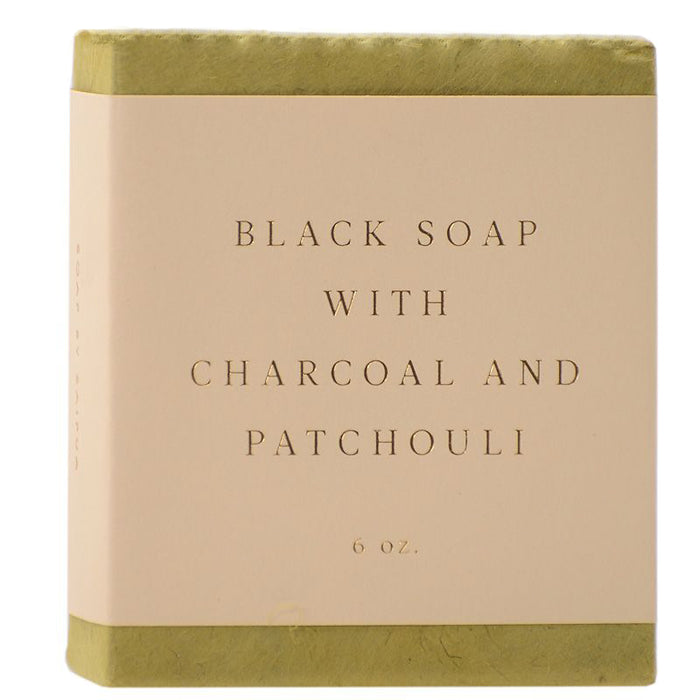 Saipua Soaps Black Soap with Charcoal and Patchouli