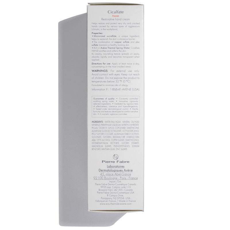 Eau Thermale Avene Cicalfate Hand Cream packaging