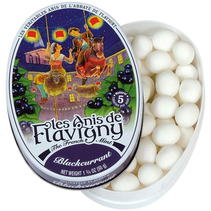 Les Anis de Flavigny Blackcurrant Flavored Hard Candy (50 g)