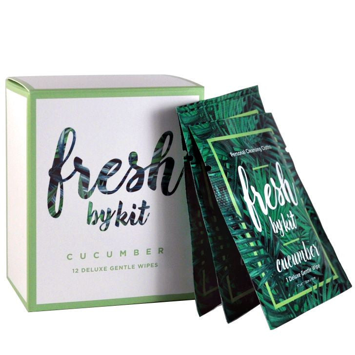 Fresh by Kit - Deluxe Gentle Wipes - Cucumber (12 pcs)
