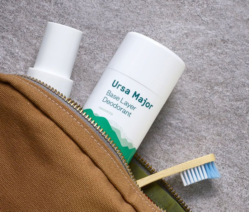 Ursa Major Base Layer Deodorant lifestyle shot