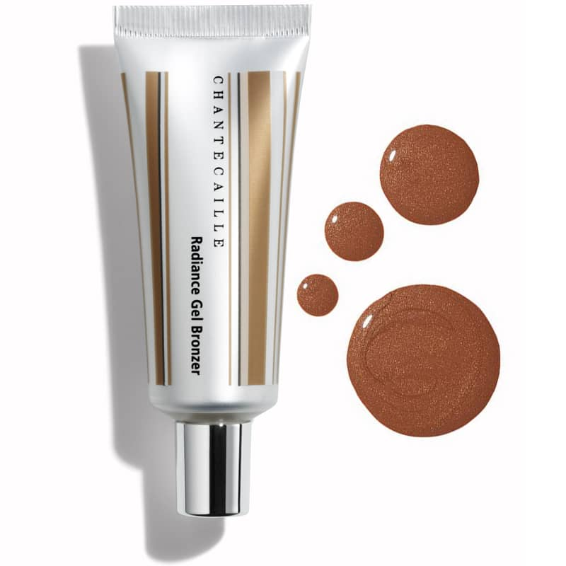 Chantecaille Radiance Gel Bronzer - 30 ml showing tube and swatch of color and texture
