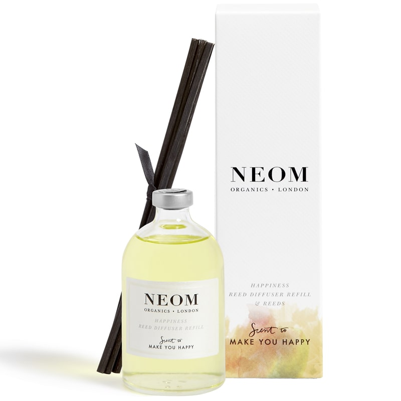NEOM Organics Reed Diffuser REFILL - Happiness (3.38 oz) with box