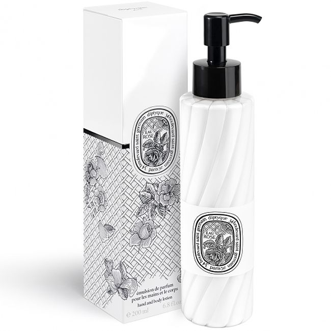 Diptyque Eau Rose Hand & Body Lotion (200 ml) bottle and box