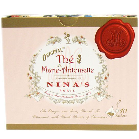 Nina's Paris Original Marie Antoinette Sachet Tea Box - 10 Count