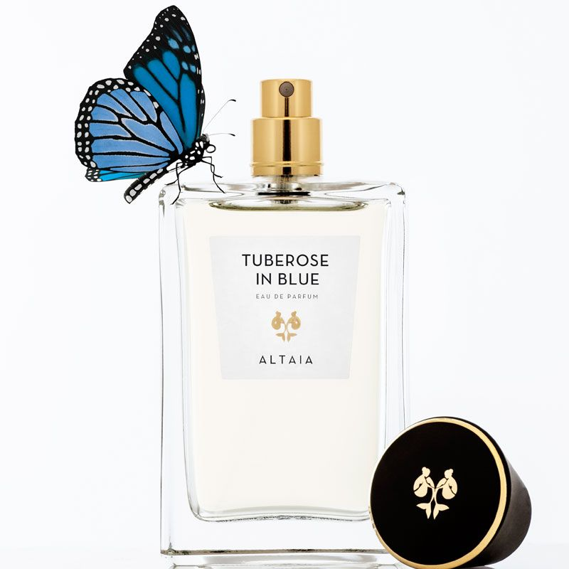ALTAIA Tuberose in Blue Eau de Parfum with top off