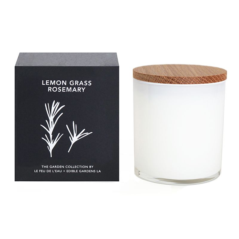 Le Feu de L'Eau Lemongrass Rosemary Candle (12 oz)