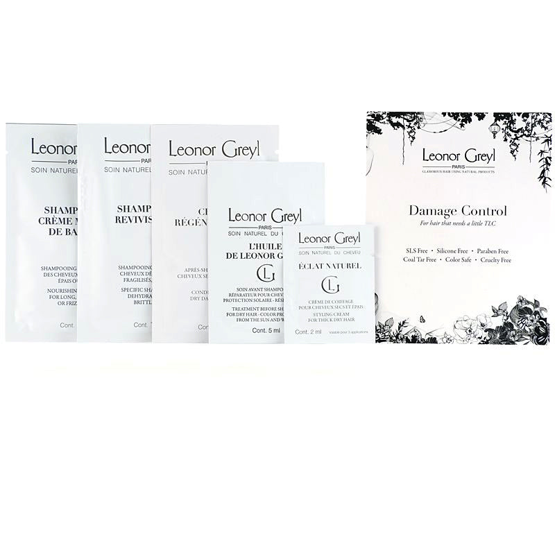 Leonor Greyl Luxury Sample Set - Damage Control Collection (5 pcs) lined up