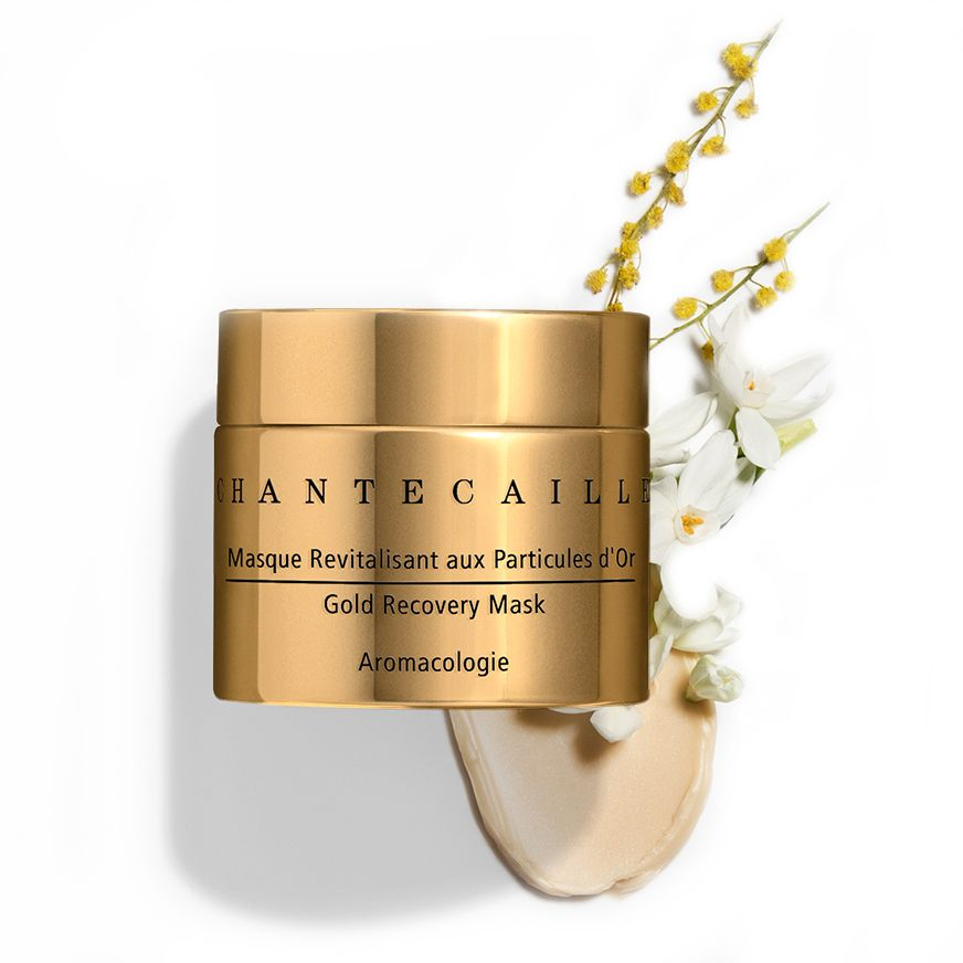Chantecaille Gold Recovery Mask 50 ml with swatch and ingredients