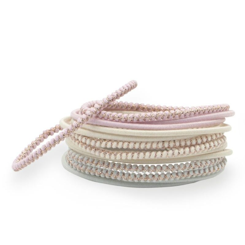 Bachca Thin Pastel Elastics stacked