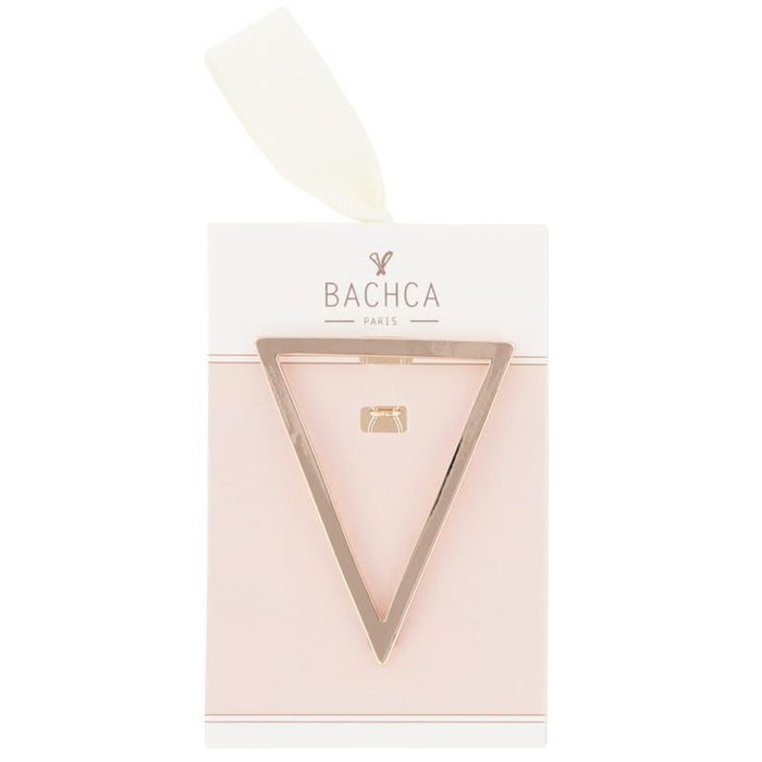 Bachca Metal Triangle Barrette in packaging
