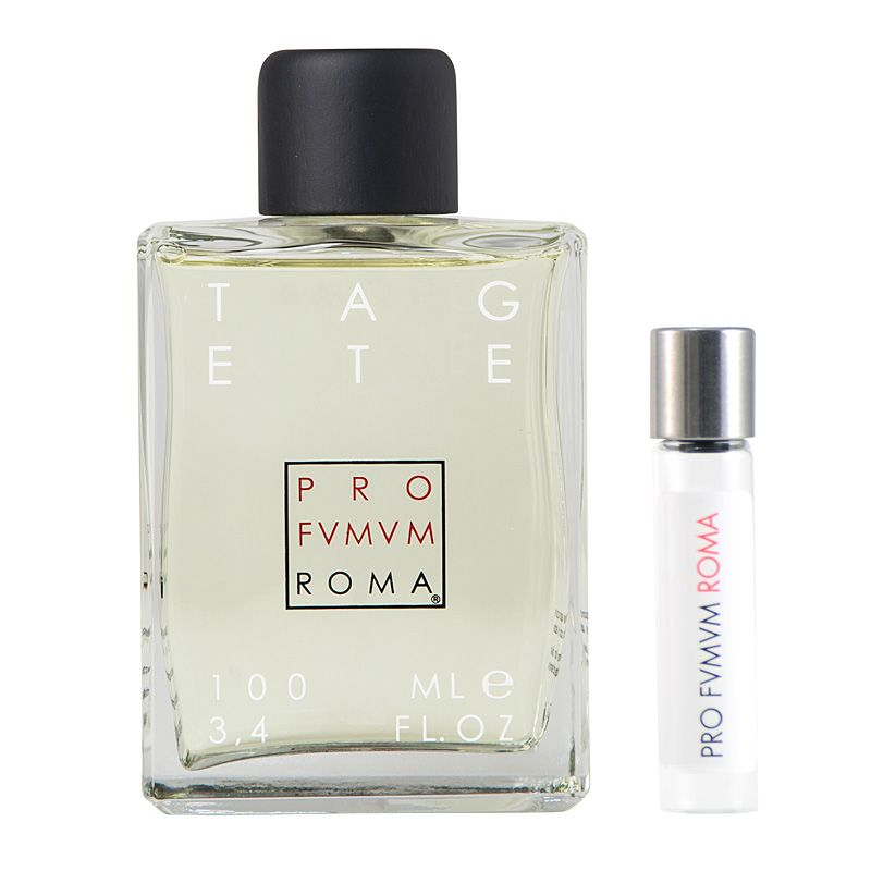 Profumum Roma Tagete Eau de Parfum and travel size vial