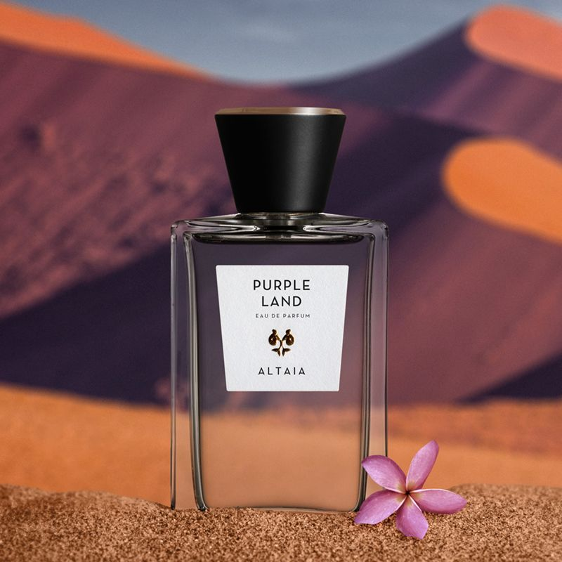 ALTAIA Purple Land Eau de Parfum with desert background