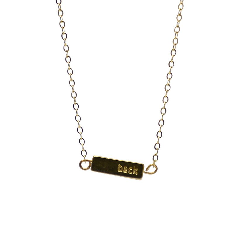 Half United Gold Give Back Necklace (back view)