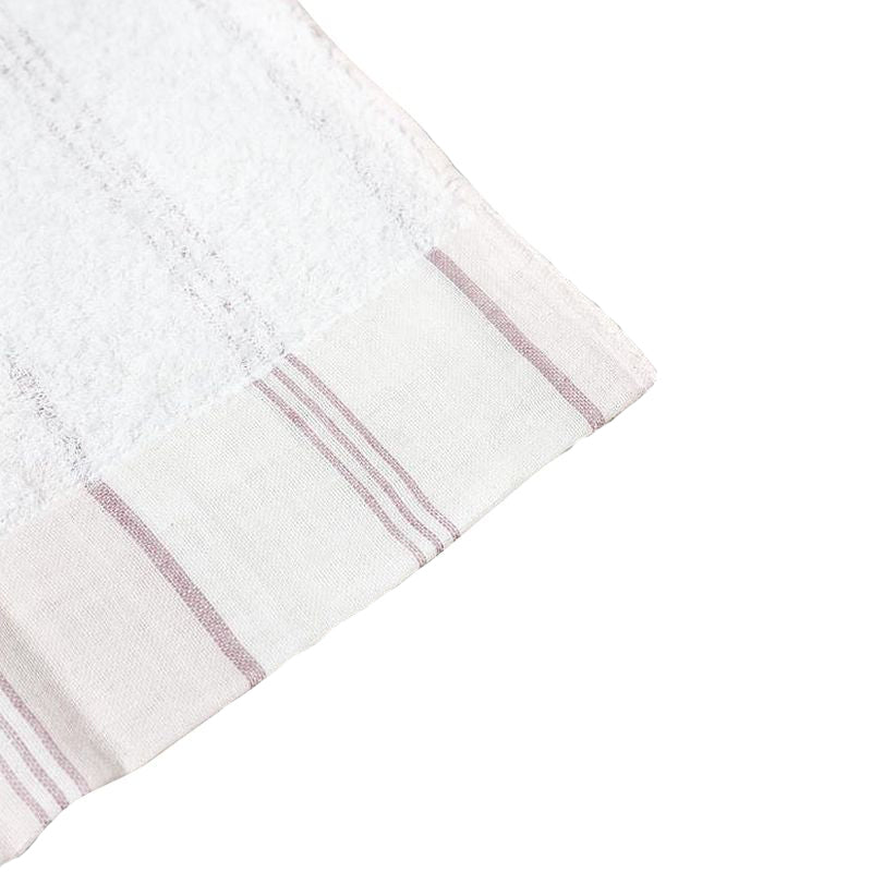 Kontex Lola Washcloth Pink Stripe (1 pc) corner close-up
