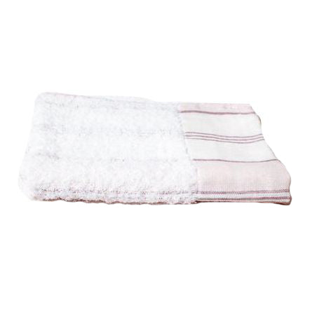 Kontex Lola Washcloth Pink Stripe (1 pc) side folded view