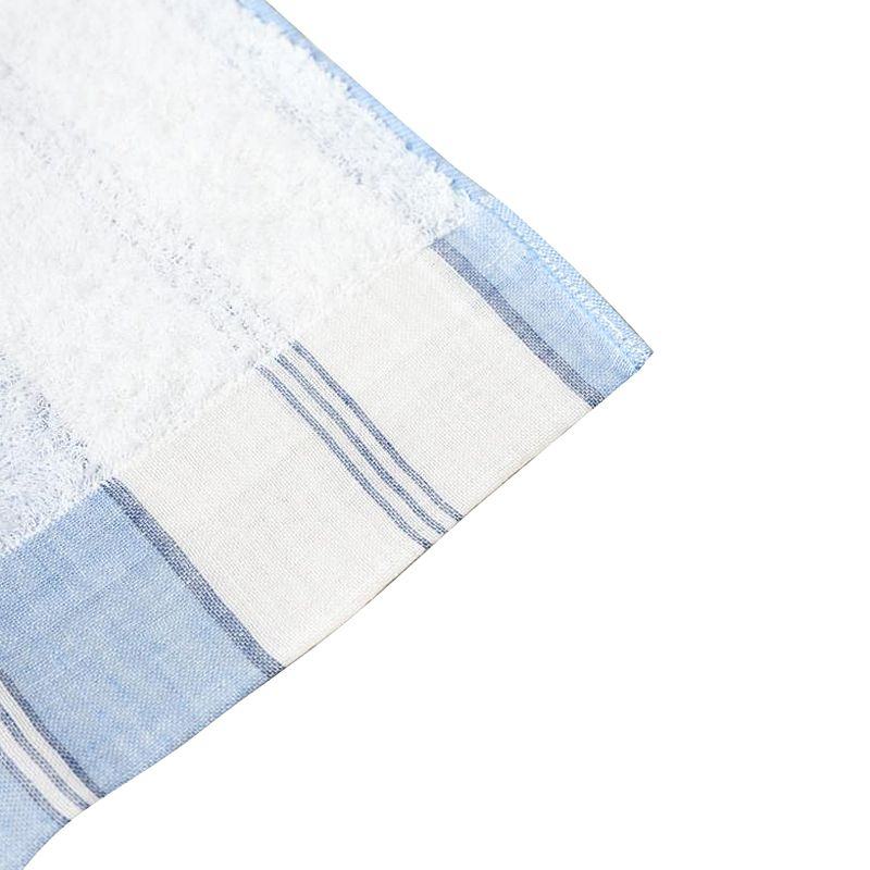 Kontex Lola Washcloth Blue Stripe (1 pc) corner close-up