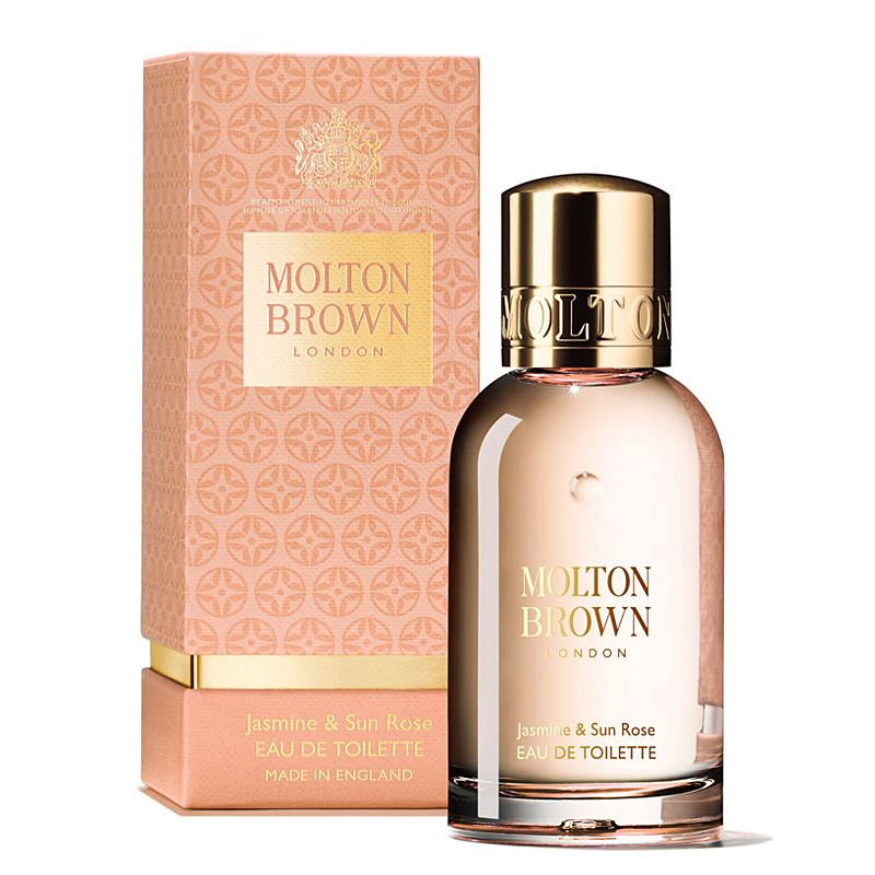 Molton Brown Jasmine & Sun Rose Eau de Toilette (50 ml) and box