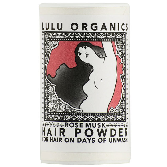 Lulu Organics Travel Sized Hair Powder (Rose Musk, 1 oz)