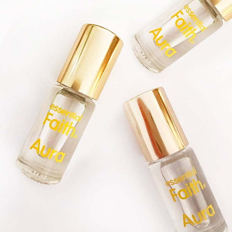 Essential Faith Aura multiple bottle beauty shot