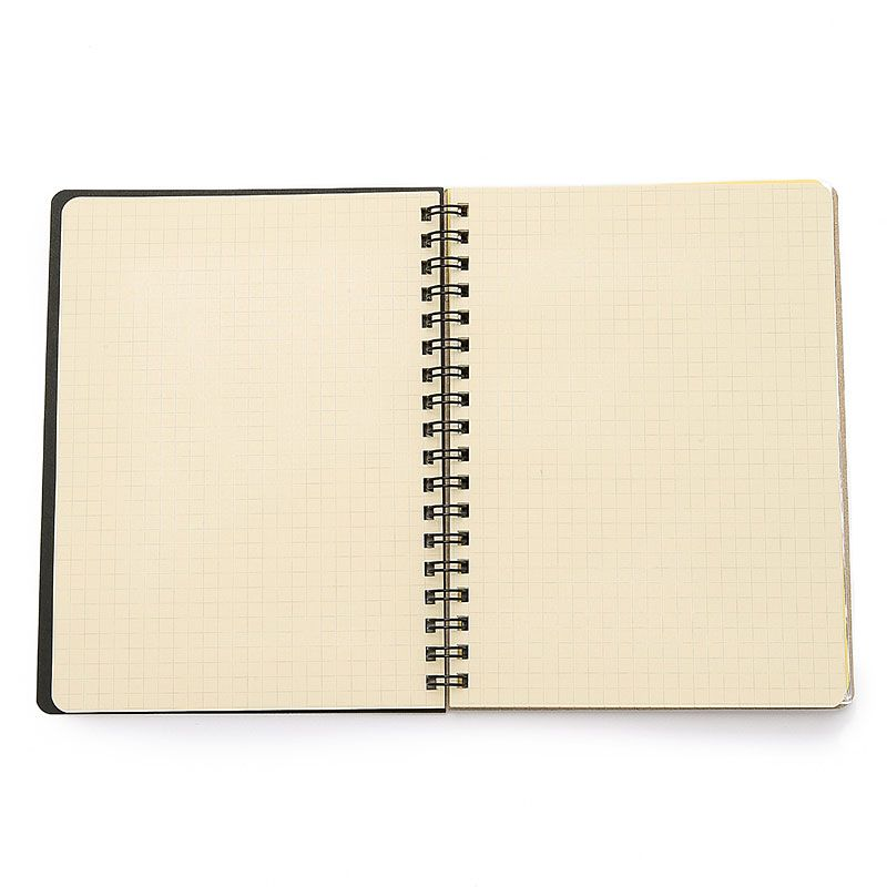 Delfonics Rollbahn Spiral Notebook Pocket Memo - open