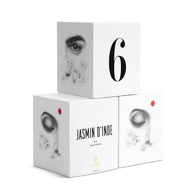L'Objet Jasmin d'Inde No. 6 Candle 3-Wick boxes
