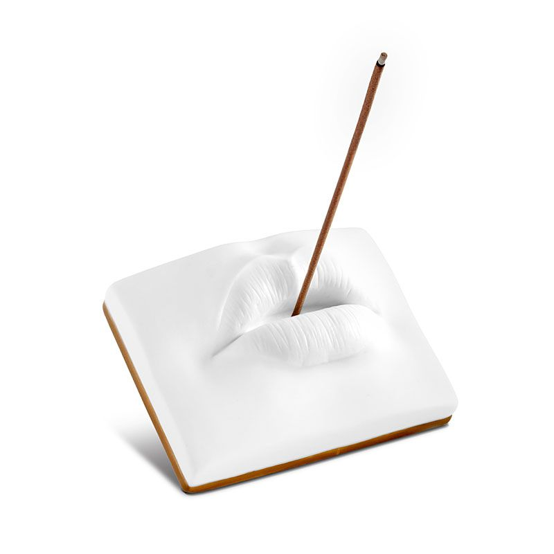 L'Objet Lips Incense Holder with incense