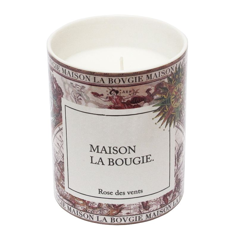 Maison La Bougie Candle - Rose Des Vents (300 g) with lid off