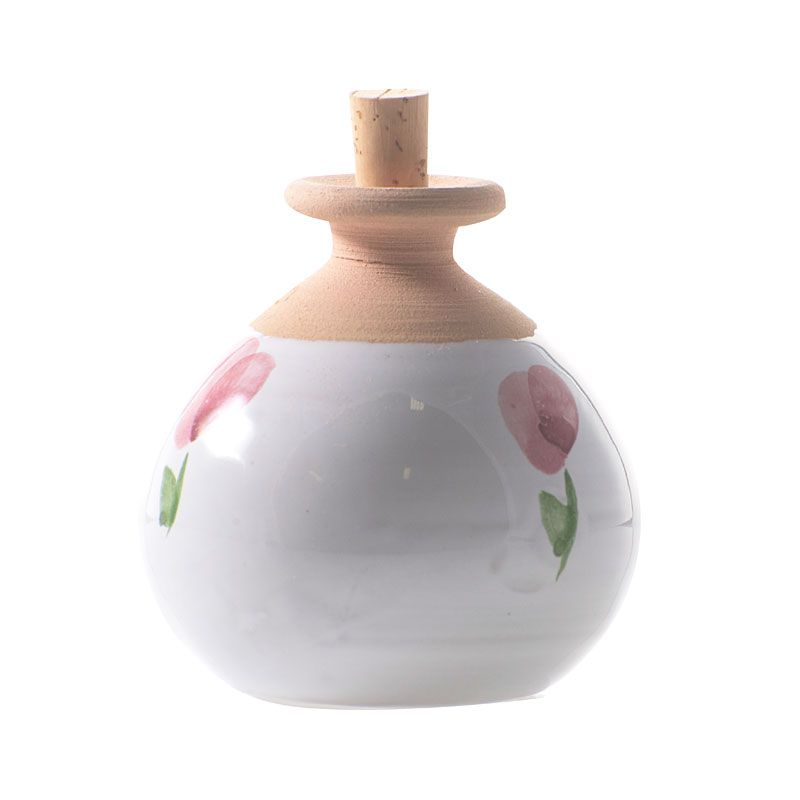 La Lavande Round Pot Diffuser - Pink Flower showing two flowers