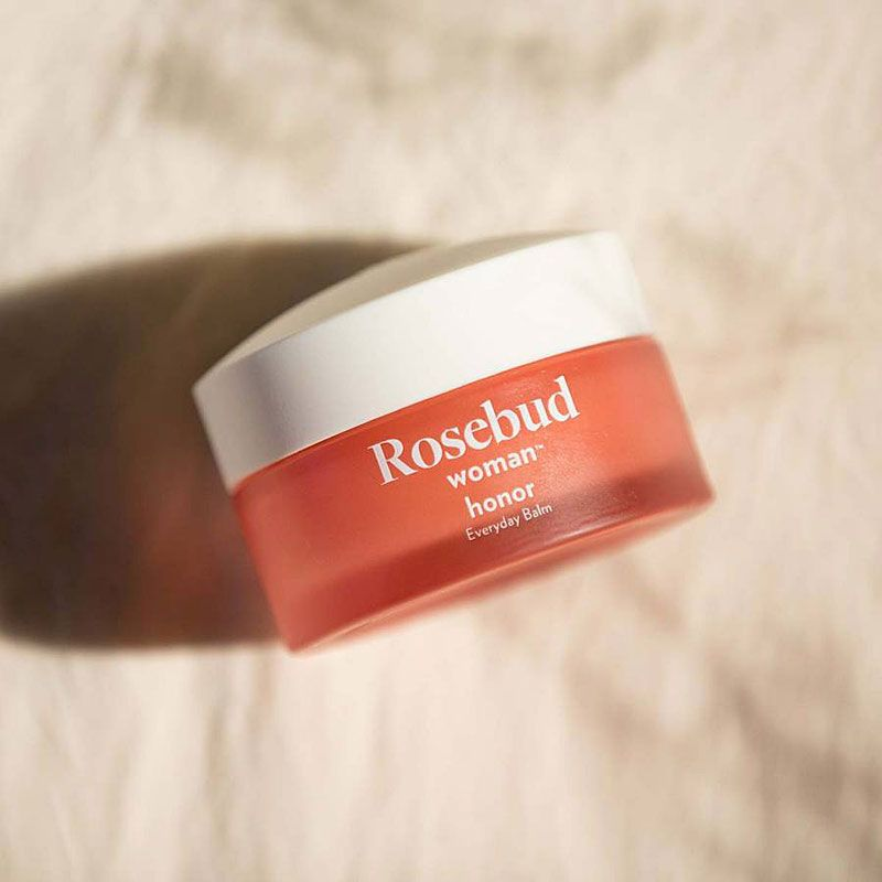 Rosebud Woman Honor Everyday Balm laying down
