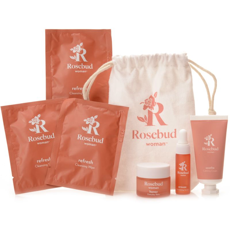 Rosebud Woman Ritual Travel Kit with pouch (6 pieces)