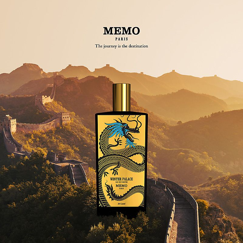 Memo Paris Winter Palace Eau de Parfum on mountainous background