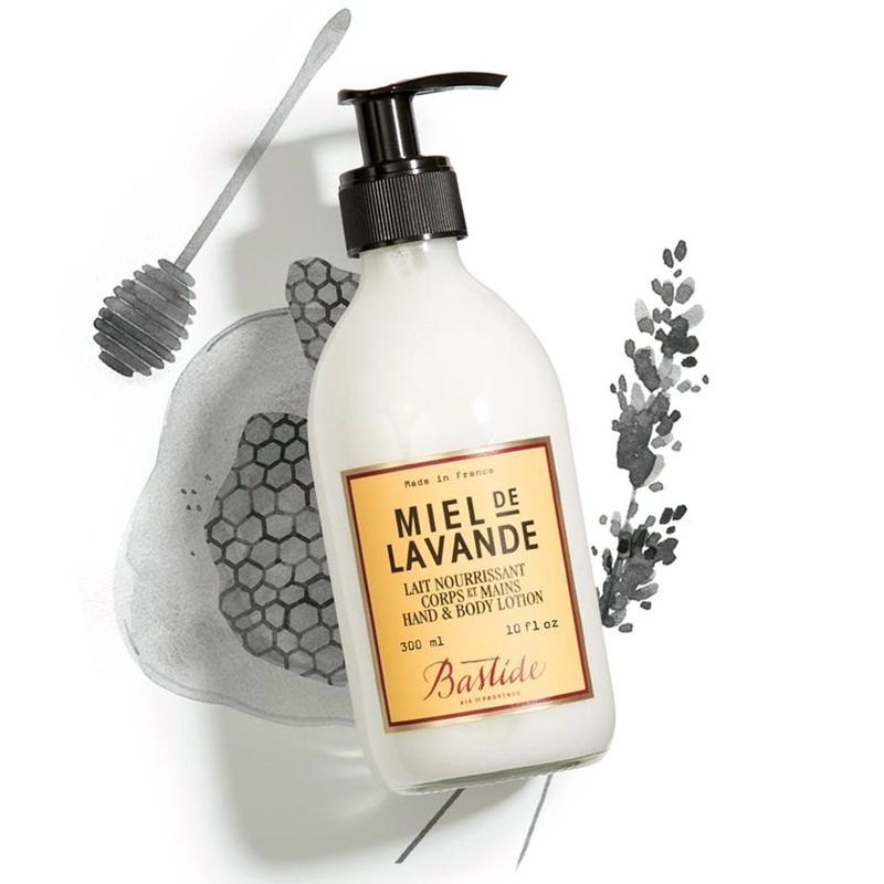 Bastide Miel de Lavande Hand And Body Lotion miel de lavande ingredient illustrated