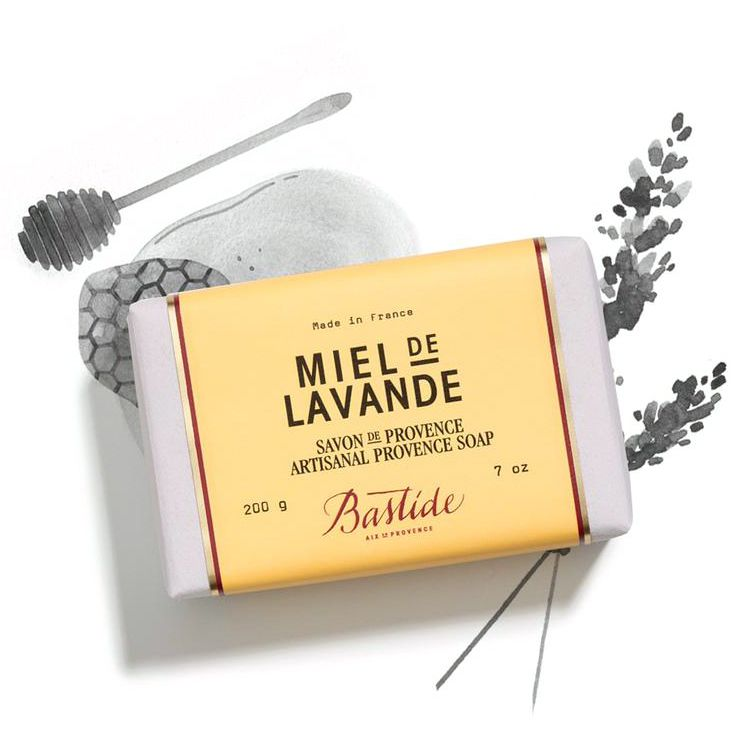 Bastide Miel de Lavande Provence Soap with miel de lavande ingredient illustrated