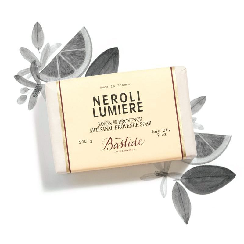 Bastide Neroli Lumiere Provence Soap with neroli ingredient illustrated