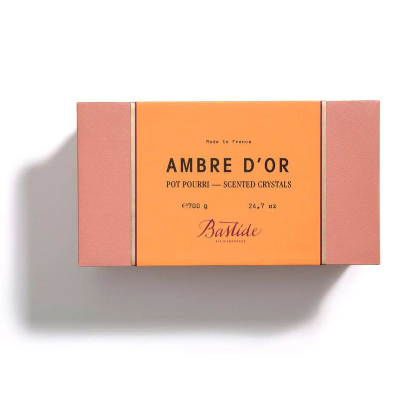 Bastide Ambre d'Or Potpourri Crystals closed box