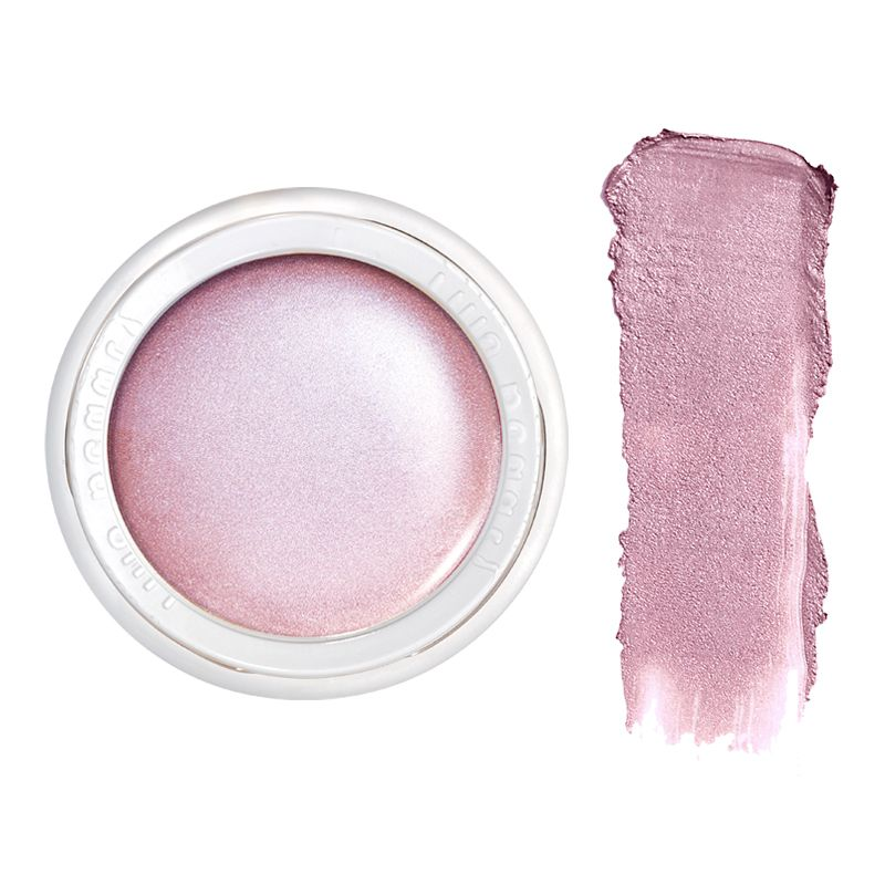 RMS Beauty Luminizer Amethyst Rose pot with color smear
