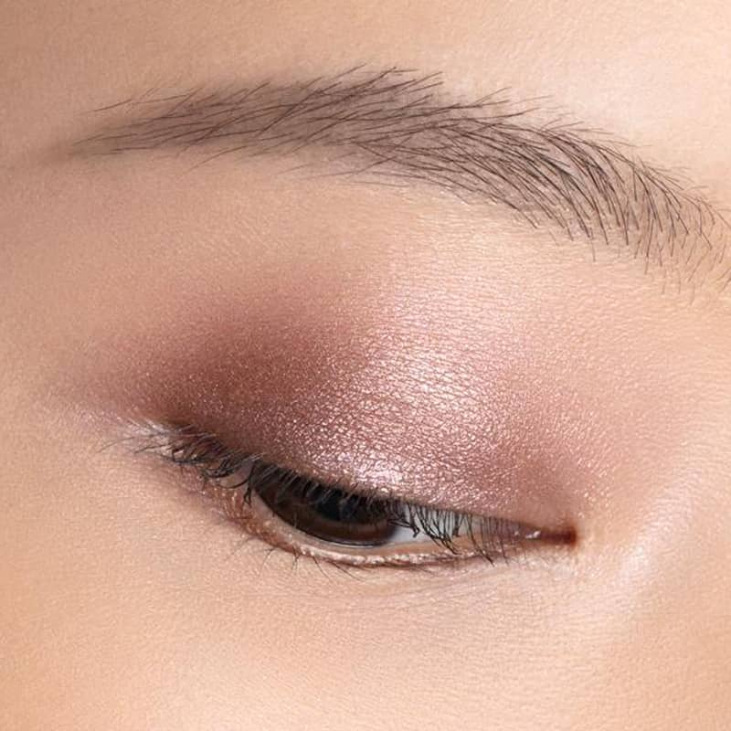 Chantecaille Luminescent Eye Shade - Pangolin shown on eyelid of model with fair skin