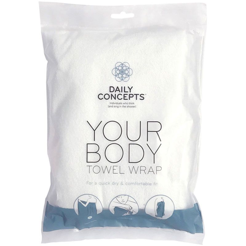 Daily Concepts Your Body Towel Wrap packaging