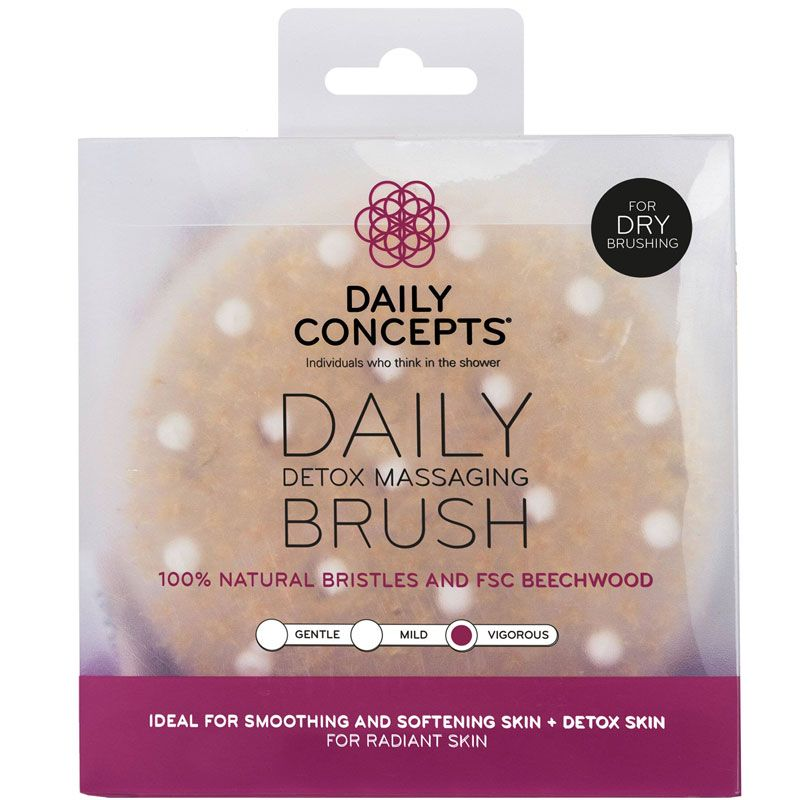 Daily Concepts Daily Detox Massaging Brush in packaging