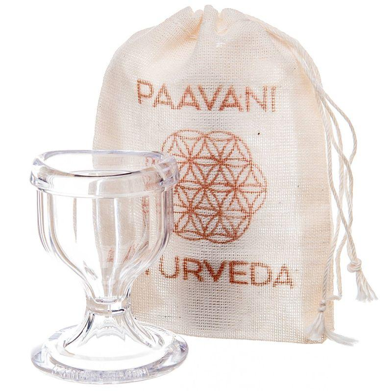 PAAVANI Ayurveda Glass Eye Wash Cup with pouch