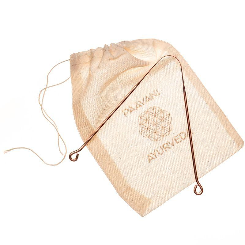 PAAVANI Ayurveda Tongue Scraper with pouch