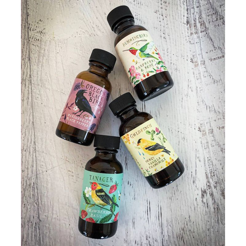 Meadowland Syrup Sweet Bird Collection: Simple Syrup Sampler - Beauty shot